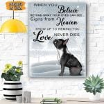 Frenchie Dog Winter Canvas Prints Wall Art - Matte Canvas