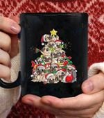 Pug christmas Tree Dog santa Merry Pugma coffee mug - Black Mug