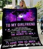 Custom Blankets To My Girlfriend - Gift for Girlfriend - Fleece Blanket