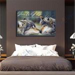 Wolf Canvas Prints Wall Art  - Matte Canvas