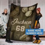 Custom Blankets BASEBALL Personalized Blanket 18 - Fleece Blanket