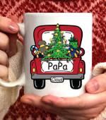 Papa Claus Santa Car Christmas Cute Daddy gift xmas Coffee Mug - White Mug