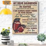 My Dear Granndson Canvas Prints Wall Art - Matte Canvas