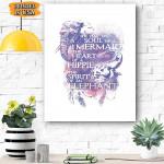 Elephant Mermaid Hippie Canvas Prints Wall Art - Matte Canvas
