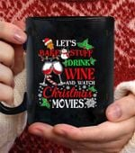Let Bake Stuff Drink Wine Apparel Watch christmas Movie coffee mug - Black Mug