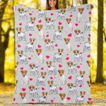 Custom Blankets Jack Russell Terrier Dog Blanket - Fleece Blanket