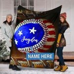 Custom Blankets BASEBALL Personalized Blanket 12 - Fleece Blanket