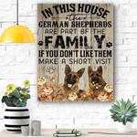 German Shepherd Family Canvas Prints Wall Art - Matte Canvas