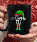 Grandma Elf Matching Family Group christmas Party Pajama 2 coffee mug - Black Mug