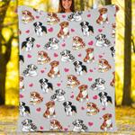 Custom Blankets Basset Hound Dog Blanket - Fleece Blanket