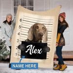 Custom Blankets Weimaraner Dog Personalized Blanket - Fleece Blanket