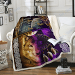 Custom Blankets Wolf Blanket - MY HEART IS A WOLF - Fleece Blanket