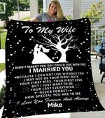 Custom Blankets Personalized Name Blanket - Perfect gift for Wife - Fleece Blanket