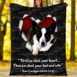 Custom Blankets Cardigan Welsh Corgi Dog Blanket - Fleece Blanket