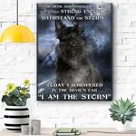 Scottish Terrier I Am The Storm Canvas Print Wall Art - Matte Canvas
