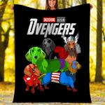 Custom Blankets Dachshund Dog Blanket - Dvengers Blanket - Fleece Blanket