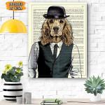 Dog Canvas Prints Wall Art - Matte Canvas