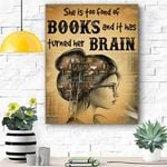 She Is Too Fond Of Books Canvas Prints Wall Art - Matte Canvas