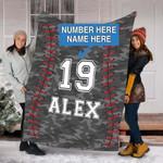 Custom Blankets BASEBALL Personalized Blanket - Fleece Blanket