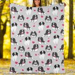 Custom Blankets Japanese Chin Dog Blanket - Fleece Blanket