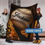 Custom Blankets BASEBALL Personalized Blanket 14 - Fleece Blanket