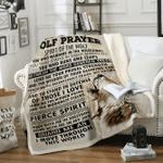 Custom Blankets Wolf Blanket - Wolf Prayer - Fleece Blanket