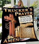 Custom Blankets Trucker's Prayer Blanket - Fleece Blanket