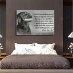 Chocolate Labrador Dog Canvas Prints Wall Art - Matte Canvas