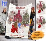 Custom Blankets Christmas Personalized Blanket - Perfect gift for Girl Best Friend - Fleece Blanket