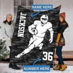 Custom Blankets Football Personalized Blanket - Fleece Blanket