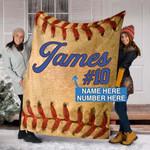 Custom Blankets BASEBALL Personalized Blanket 5 - Fleece Blanket