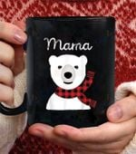 Family Matching christma Buffalo Plaid Mama Bear coffee mug - Black Mug