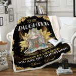 Custom Blankets Yoga Blanket - Perfect Gift For Daughter - Fleece Blanket
