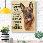 German Shepherd Dog Canvas Prints Wall Art 4 - Matte Canvas