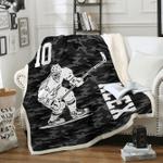 Custom Blankets Hockey Personalized Blanket - Sherpa Blanket