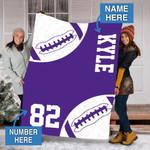 Custom Blankets Vikings Football Personalized Blanket - Fleece Blanket