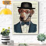 Labrador in Tuxedo Dog Canvas Prints Wall Art - Matte Canvas