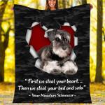 Custom Blankets Miniature Schnauzer Dog Blanket - Fleece Blanket