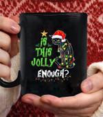 Halloween I this jolly enough Noel Cat merry christmas coffee mug - Black Mug