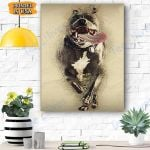 Pitbull Dog Canvas Prints Wall Art - Matte Canvas