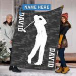 Custom Blankets Golf Personalized Blanket - Fleece Blanket