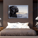Black Labrador Dog Canvas Prints Wall Art - Matte Canvas