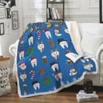 Custom Blankets Dental Christmas Blanket Xmas - Fleece Blanket