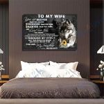 Wolf Canvas Prints Wall Art - Perfect Gift For Wife - Matte Canvas