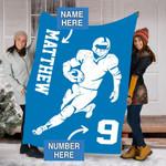 Custom Blankets Lions Football Personalized Blanket - Fleece Blanket