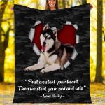 Custom Blankets Husky Dog Blanket - Fleece Blanket