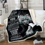 Custom Blankets Wolf Blanket - Fleece Blanket