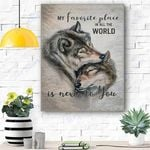 Wolf Canvas Prints Wall Art - My Favorite Place In All The World - Matte Canvas