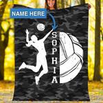 Custom Blankets Volleyball Personalized Blanket - Fleece Blanket