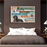 Black Dachshund Dog Canvas Prints Wall Art - Matte Canvas